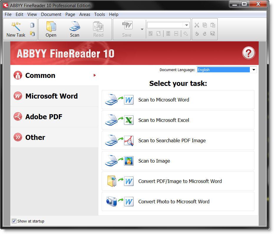 Abbyy finereader умеет распознавать текст из отсканированных бумажных докум